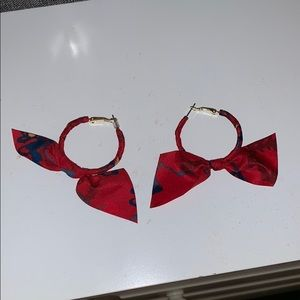 American Eagle Ribbon Earrings